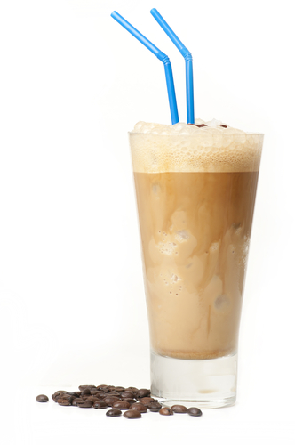 Pre-workout coffee protein shake
