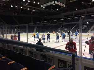 Second day of training camp for the Rochester Americans